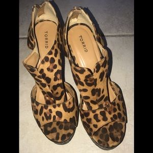 Torrid Animal Print Wedge Sandals, 11